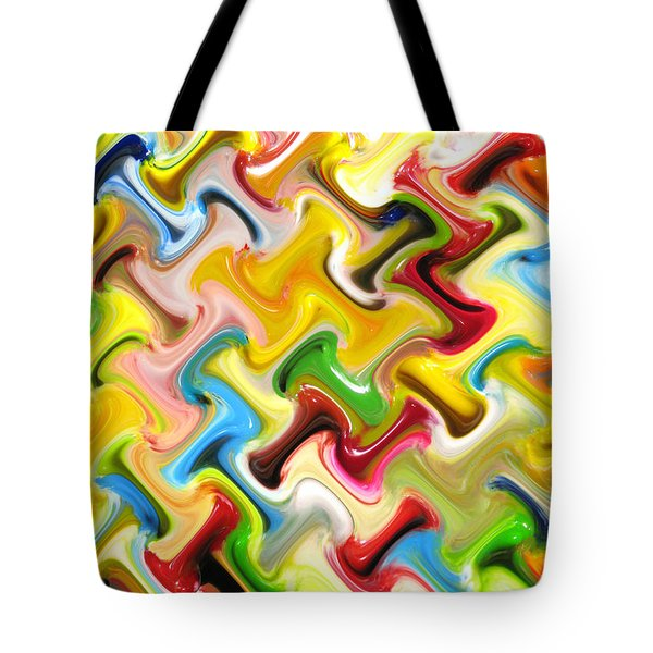 Abstract  Six  Of  Twenty  One Tote Bag by Carl Deaville