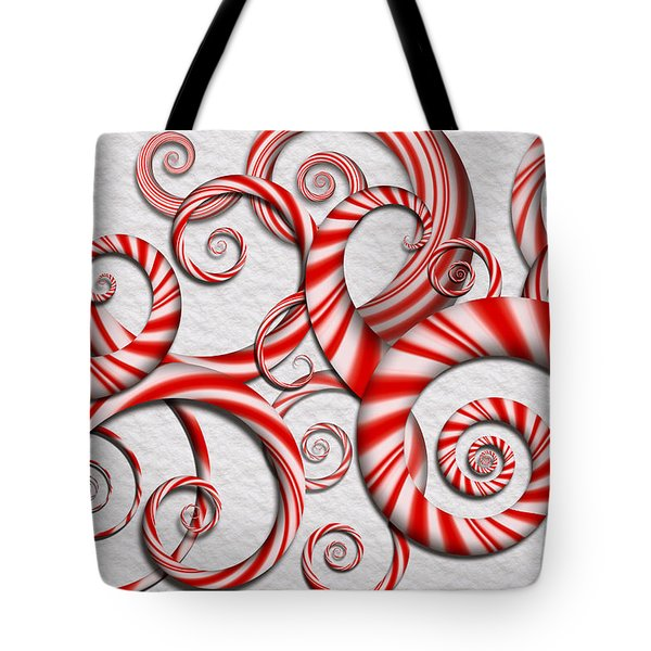 Abstract - Spirals - Peppermint Dreams Tote Bag by Mike Savad