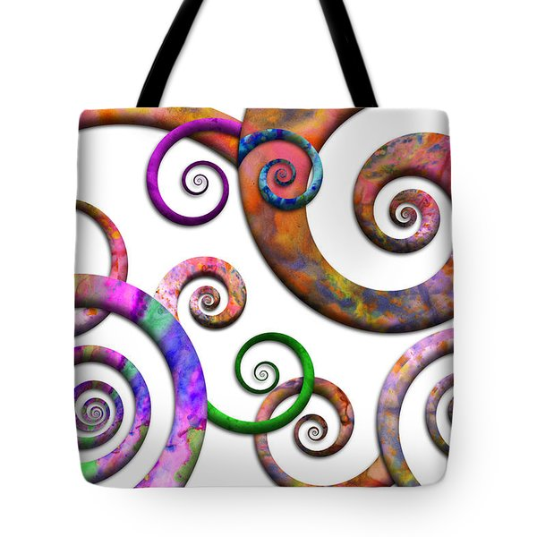 Abstract - Spirals - Planet X Tote Bag by Mike Savad