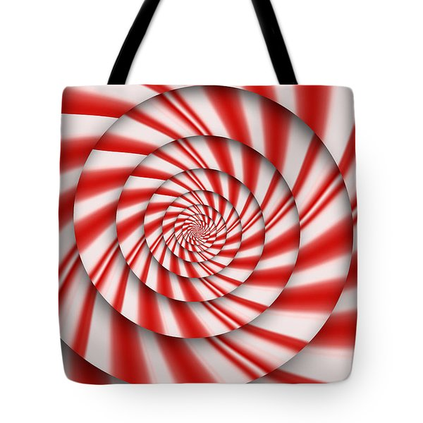 Abstract - Spirals - The power of mint Tote Bag by Mike Savad