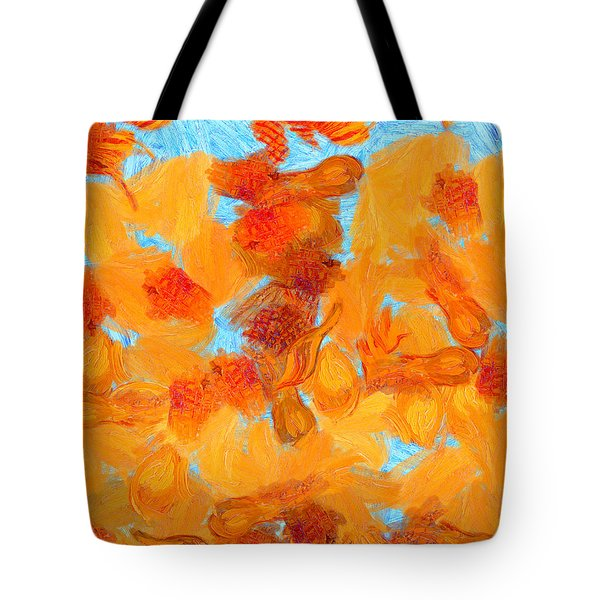 Abstract Summer Tote Bag by Pixel Chimp