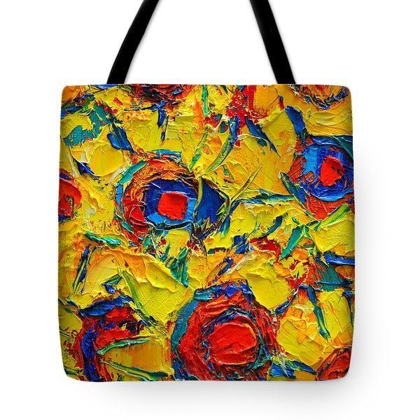 Abstract Sunflowers Tote Bag by Ana Maria Edulescu