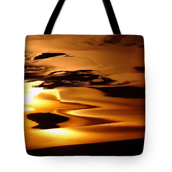 Abstract Sunrise Tote Bag by Jeff Swan