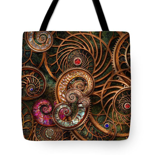 Abstract - The wonders of Sea Tote Bag by Mike Savad