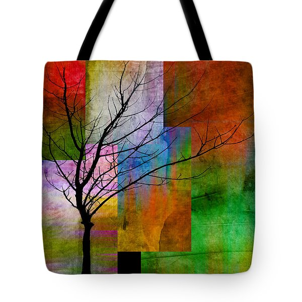 abstract- trees - Color Blocks with Tree Tote Bag by Ann Powell