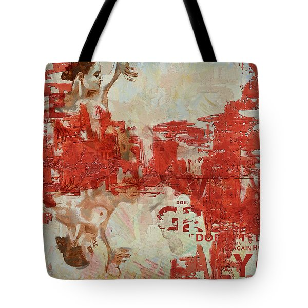 Abstract Women 20 Tote Bag by Corporate Art Task Force