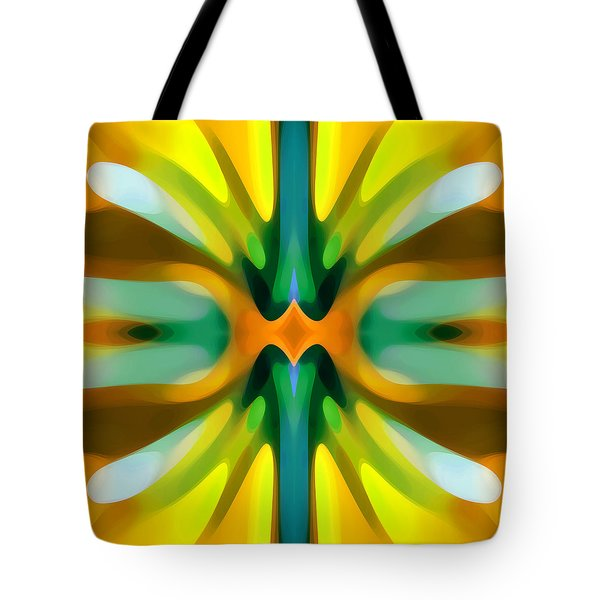 Abstract YellowTree Symmetry Tote Bag by Amy Vangsgard