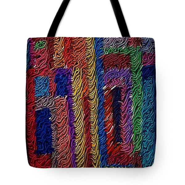 Abvstract Sevens Tote Bag by M and L Creations Craft Boutique