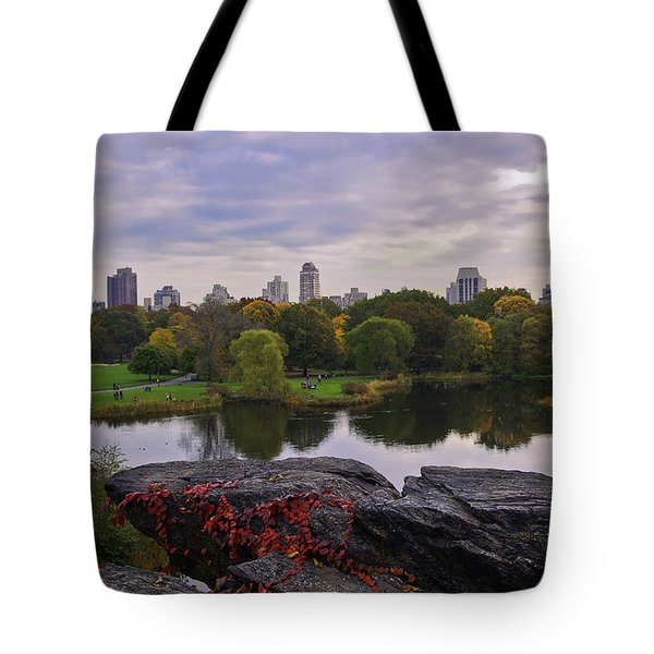 Across The Pond 2 - Central Park - Nyc Tote Bag by Madeline Ellis