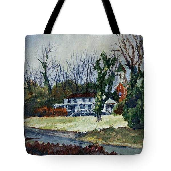 Across The Railroad Tote Bag by Janet Felts