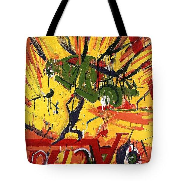 Action Abstraction No. 1 Tote Bag by David Leblanc