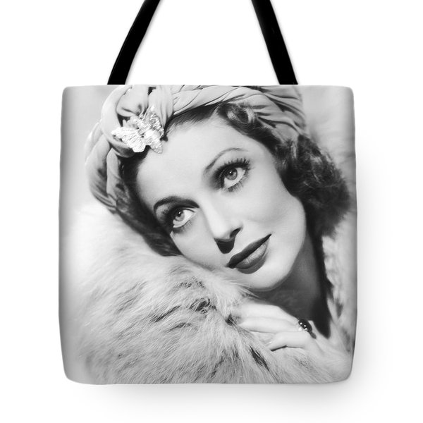 Actress Loretta Young Tote Bag by Underwood Archives