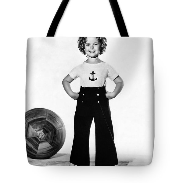 Actress Shirley Temple Tote Bag by Underwood Archives