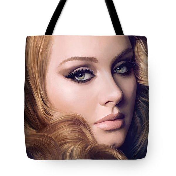 Adele Artwork  Tote Bag by Sheraz A