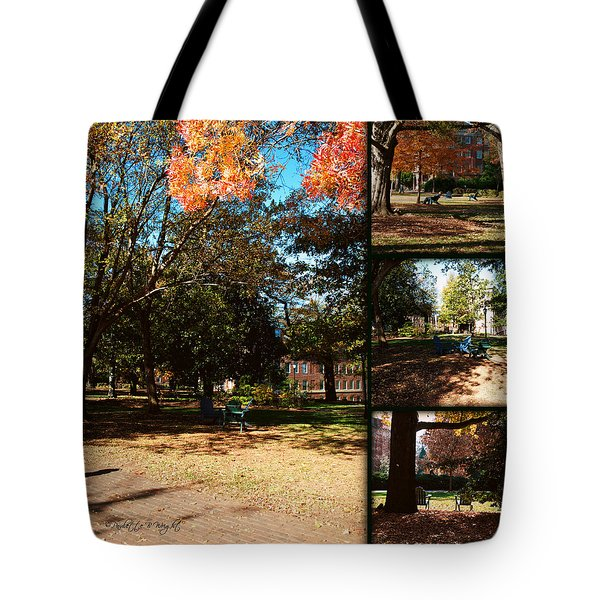 Adirondack Chairs Collage2 Tote Bag by Paulette B Wright