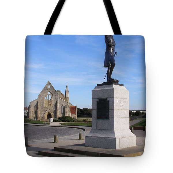 Admiral Lord Nelson and Royal Garrison Church Tote Bag by Terri  Waters
