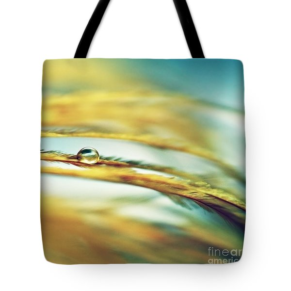 Adopt The Pace Of Nature- Feather Photograph Tote Bag by Sylvia Cook