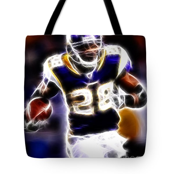 Adrian Peterson 01 - Football - fantasy Tote Bag by Paul Ward
