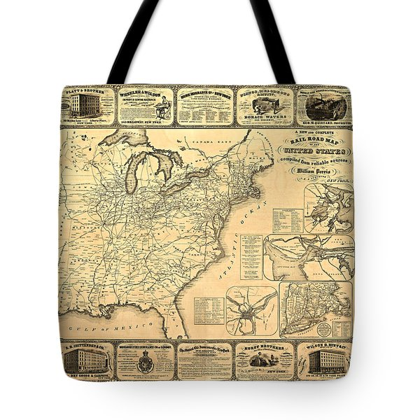 Advertising Map Tote Bag by Gary Grayson