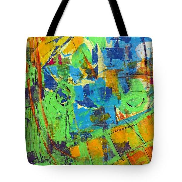 Aerial View Tote Bag by Katie Black