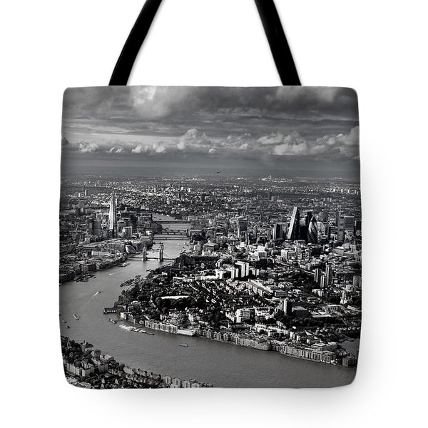 Aerial View Of London 4 Tote Bag by Mark Rogan