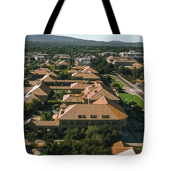 Aerial View Of Stanford University Tote Bag by Panoramic Images