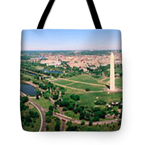 Aerial Washington Dc Usa Tote Bag by Panoramic Images