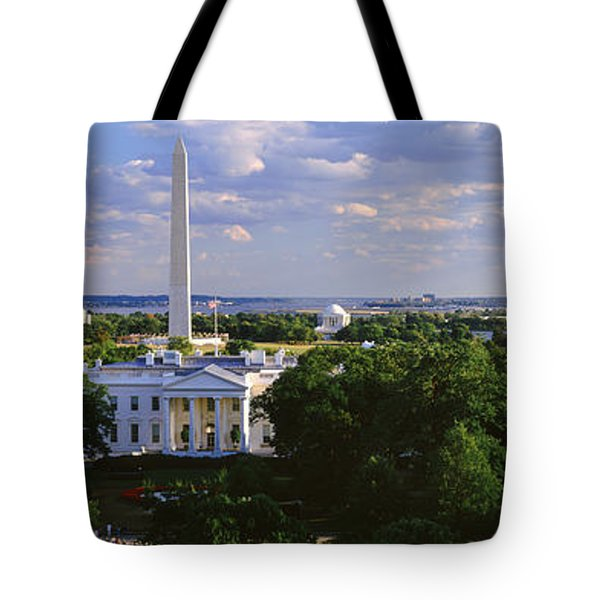 Aerial, White House, Washington Dc Tote Bag by Panoramic Images