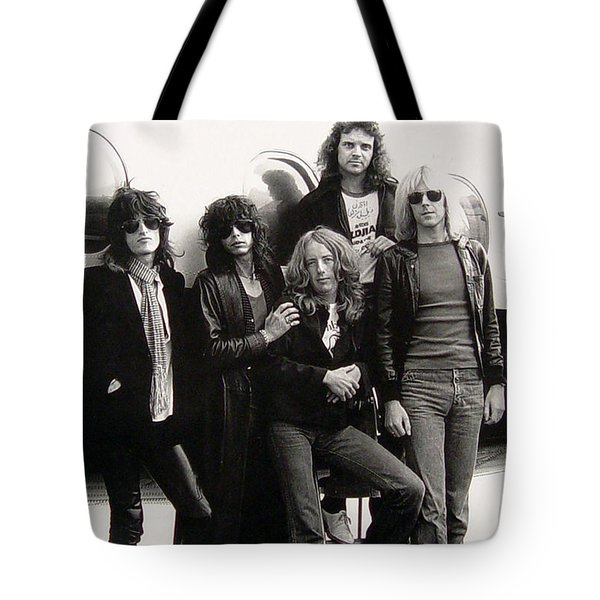 Aerosmith - Eurofest Jet 1977 Tote Bag by Epic Rights