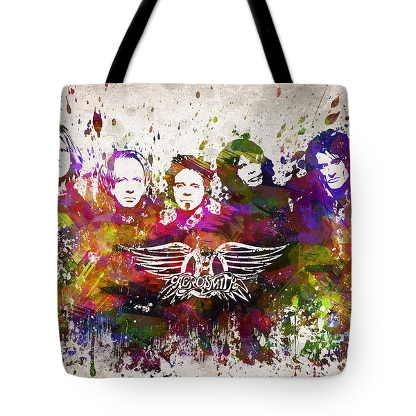 Aerosmith In Color Tote Bag by Aged Pixel