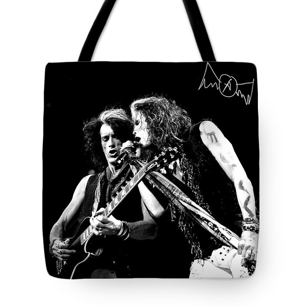 Aerosmith - Joe Perry & Steve Tyler Tote Bag by Epic Rights