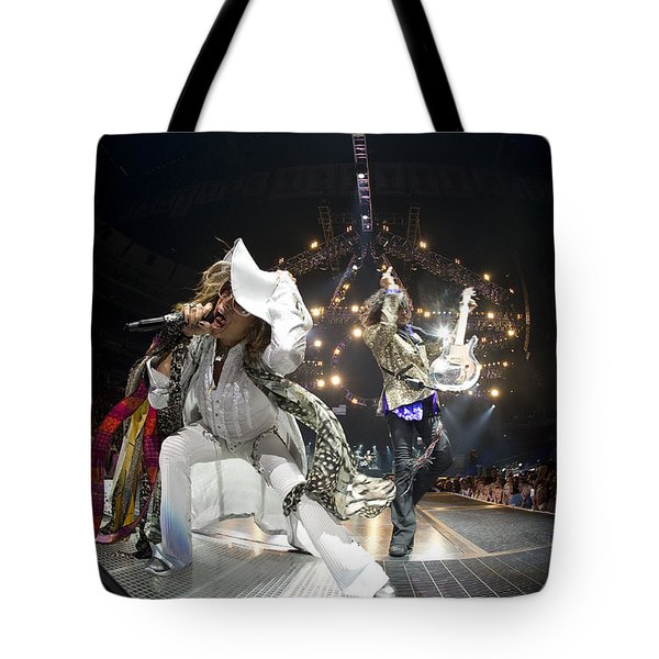 Aerosmith - On Stage 2012 Tote Bag by Epic Rights