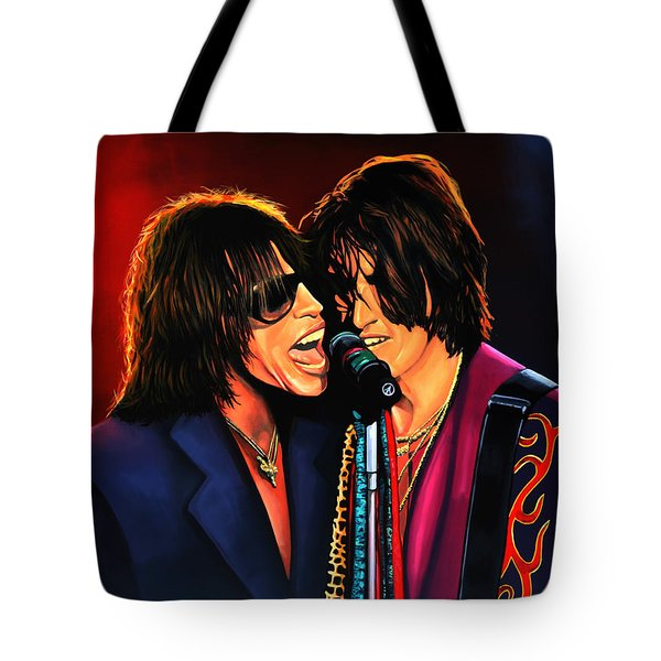 Aerosmith Toxic Twins Painting Tote Bag by Paul Meijering