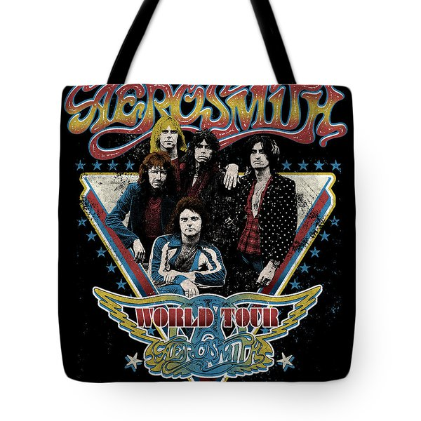 Aerosmith - World Tour 1977 Tote Bag by Epic Rights