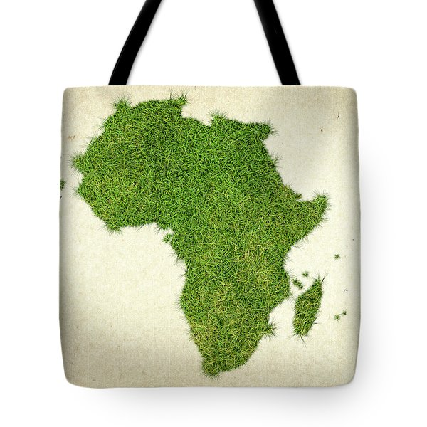 Africa Grass Map Tote Bag by Aged Pixel