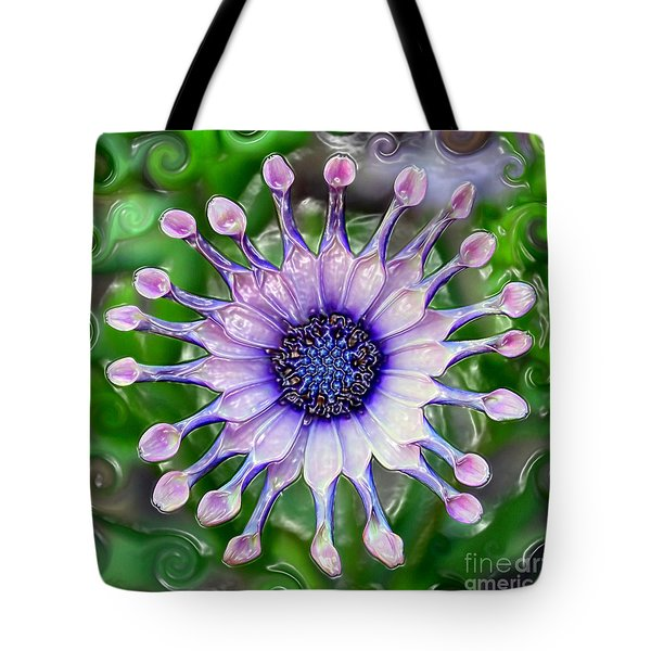 African Daisy For Van Gogh Tote Bag by Carol Groenen