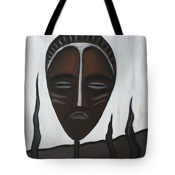 African Mask II Tote Bag by Eva-Maria Becker