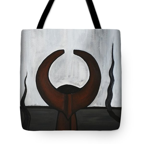 African Mask IIi Tote Bag by Eva-Maria Becker