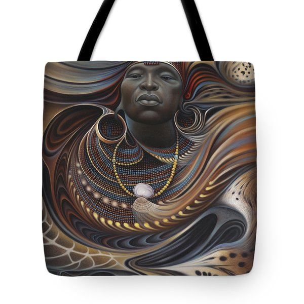 African Spirits I Tote Bag by Ricardo Chavez-Mendez
