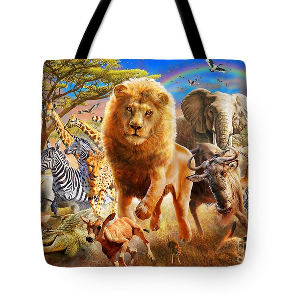 African Stampede Tote Bag by Adrian Chesterman