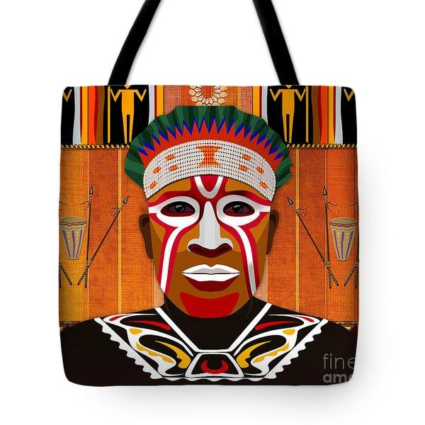 African Tribesman 3 Tote Bag by Bedros Awak