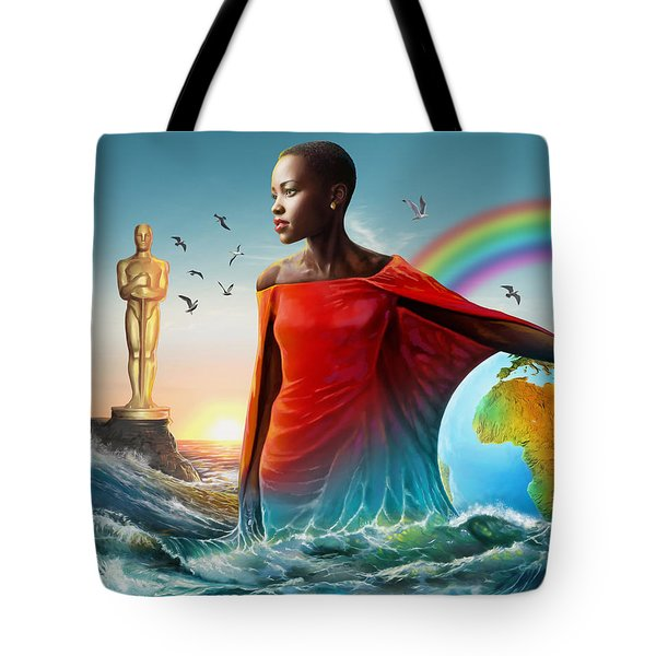 The Lupita Tsunami Tote Bag by Anthony Mwangi