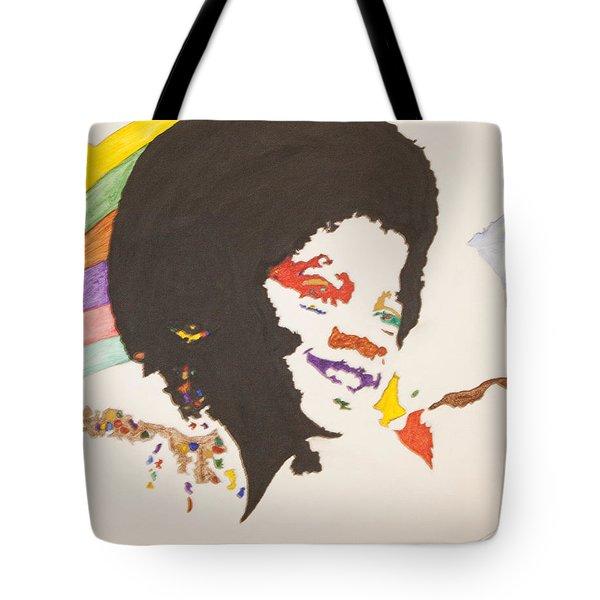 Afro Michael Jackson Tote Bag by Stormm Bradshaw
