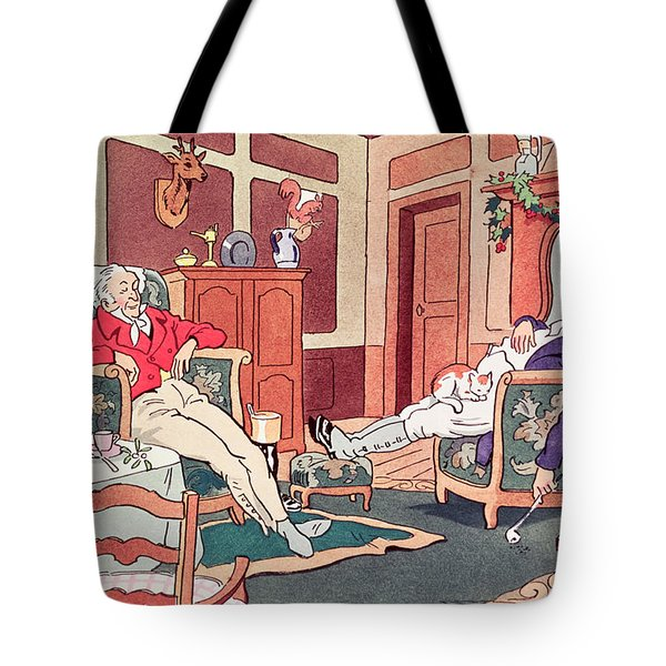 After Christmas Lunch Tote Bag by Anonymous