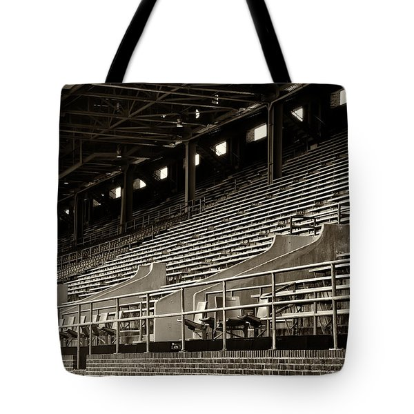 After The Game - Franklin Field Philadelphia Tote Bag by Bill Cannon