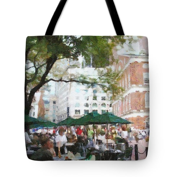 Afternoon at Faneuil Hall Tote Bag by Jeff Kolker