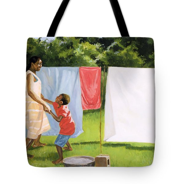 Afternoon Break Tote Bag by Colin Bootman