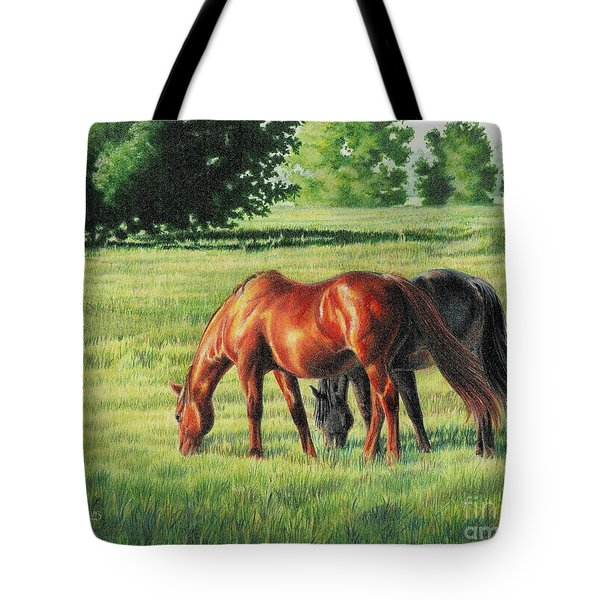 Afternoon Graze Tote Bag by Carrie L Lewis