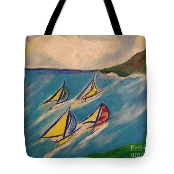 Afternoon Regatta by jrr Tote Bag by First Star Art