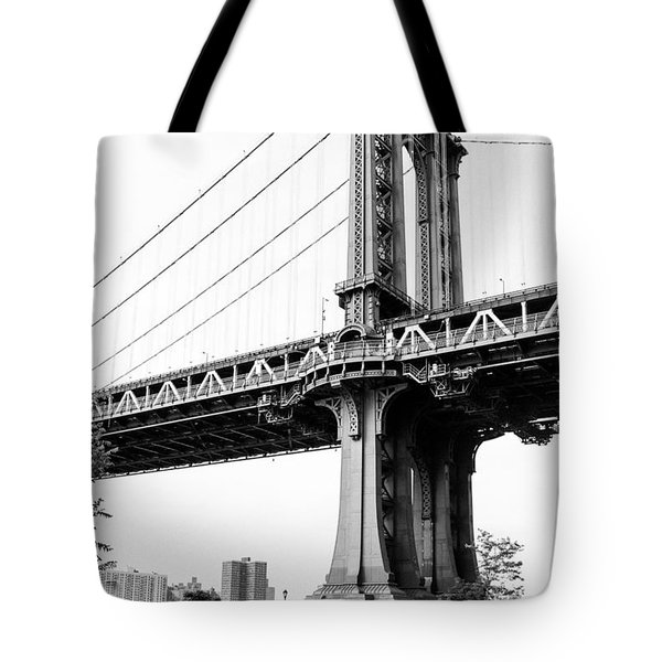 Afternoon Under The Manhattan Bridge - Brooklyn Bridge Park Tote Bag by Gary Heller